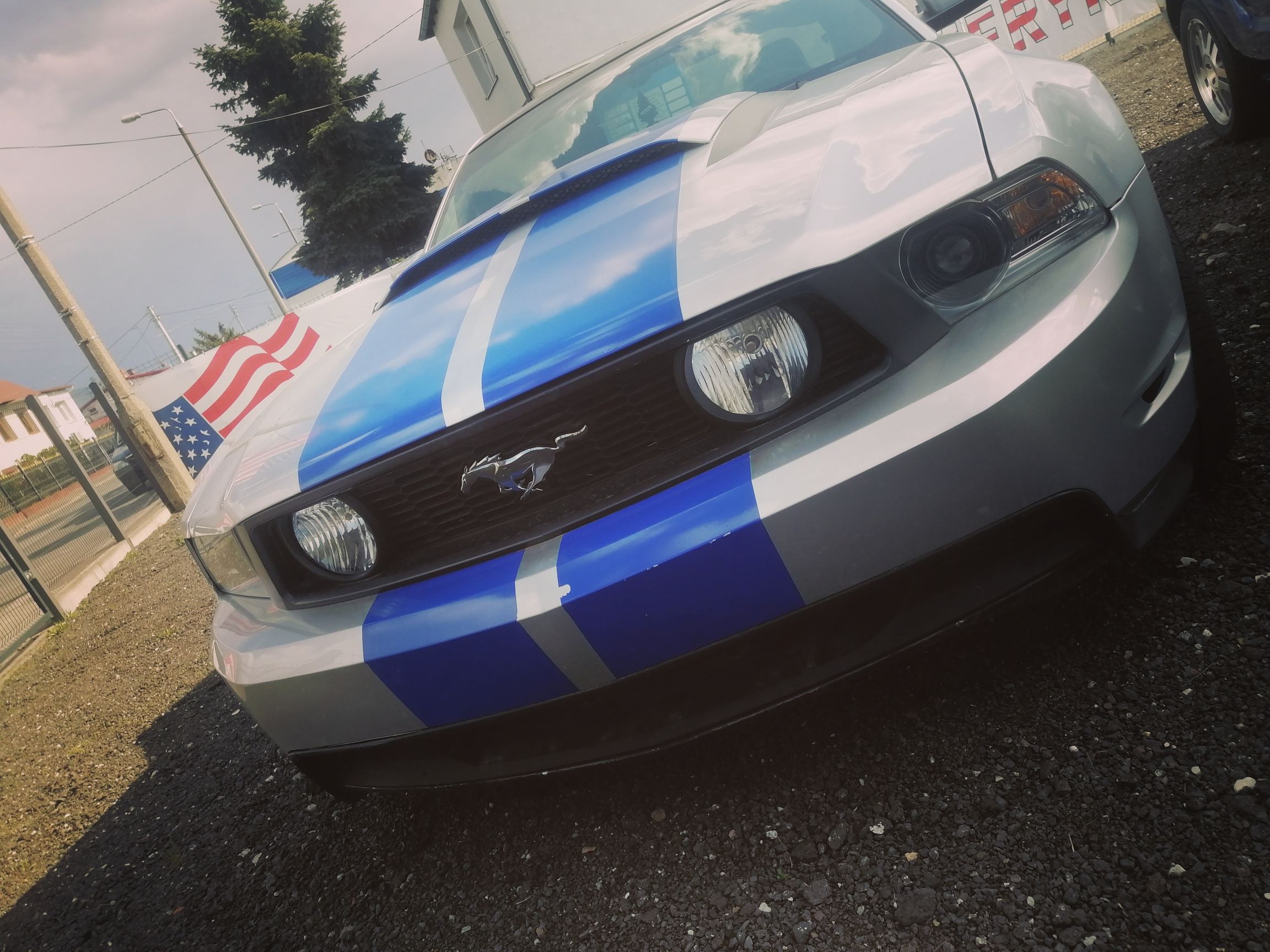 Ford Mustang silver